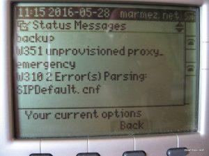 Cisco 7940 błędy